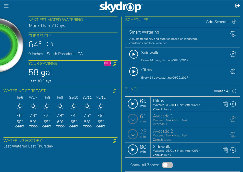 Backyard Controller settings