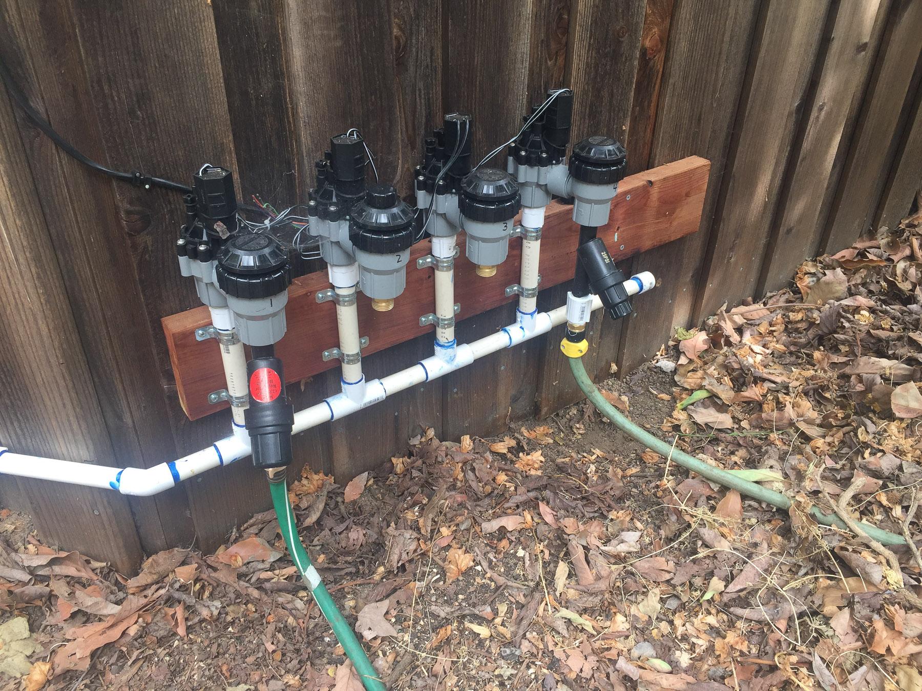 Backyard valves