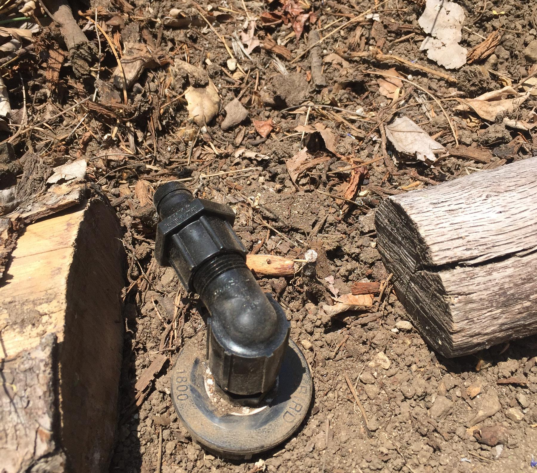 Rainbird drip irrigation retrofit kit.